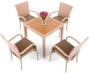Home&garden Meble z technorattanu mori square beige 4+1