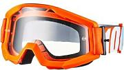 100% Strata Anti Fog Clear Gogle Dzieci, orange